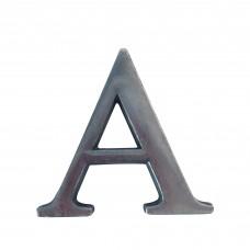 Lettera A in alluminio anodizzato