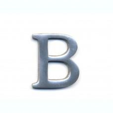 Lettera B in alluminio anodizzato