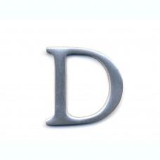 Lettera D in alluminio anodizzato