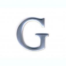 Lettera G in alluminio anodizzato