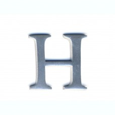 Lettera H in alluminio anodizzato