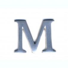 Lettera M in alluminio anodizzato