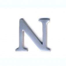 Lettera N in alluminio anodizzato