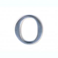 Lettera O in alluminio anodizzato