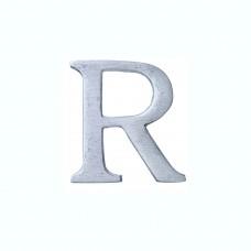 Lettera R in alluminio anodizzato