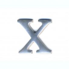 Lettera X in alluminio anodizzato