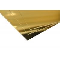 Lastre in alluminio anodizzato oro lucido specchio mm.0,5