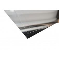 Lastre in alluminio anodizzato argento lucido specchio mm.0,8