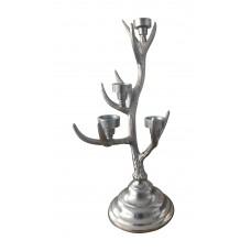 Portacandele in alluminio Corona
