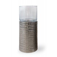 Portacandela in alluminio Bramble Texture