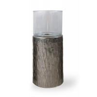 Portacandela in alluminio Scales Texture
