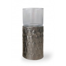 Portacandela in alluminio Flasche Texture
