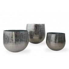 Vaso porta piante in alluminio Ø cm. 19