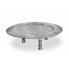 Tavolino tondo in alluminio Ø cm. 50