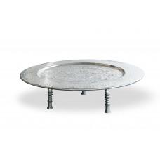 Tavolino tondo in alluminio Ø cm. 40