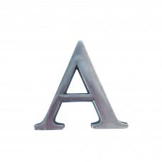 Lettere in alluminio anodizzato satinato - Lettera A