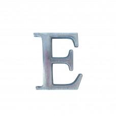 Lettere in alluminio anodizzato satinato - Lettera E