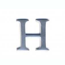 Lettere in alluminio anodizzato satinato - Lettera H