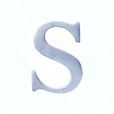 Lettere in alluminio anodizzato satinato - Lettera S