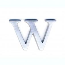 Lettere in alluminio anodizzato satinato - Lettera W