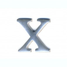 Lettere in alluminio anodizzato satinato - Lettera X