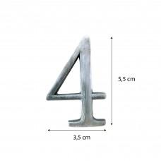 Numeri in alluminio anodizzato satinato - Numero 4