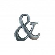 Simbolo & in alluminio anodizzato satinato