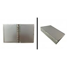 Agenda ad anelle in alluminio