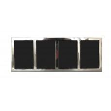 Cornice portafoto multipla a quattro sezioni in alluminio