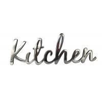 "Targa ""Kitchen"" in alluminio lucido"
