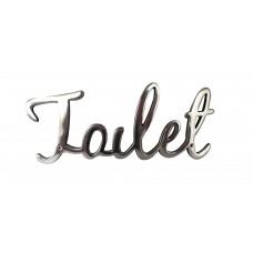 """Targa """"Toilet"""" in alluminio lucido"""