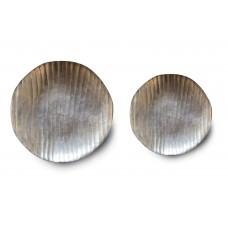 """Set due piatti """"Cordian"""" in alluminio ossidato"""