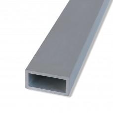 Profili rettangolari estrusi in alluminio anodizzato mm. 40x15x1,5