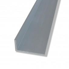 Profili a L in alluminio anodizzato con lati disuguali mm. 40x15x2