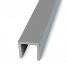 Profili a U in alluminio anodizzato mm. 8x8x1