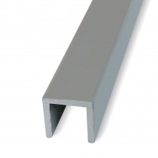 Profili a U in alluminio anodizzato mm. 15x15x1,5