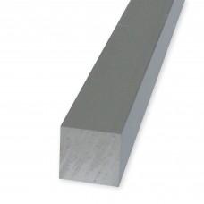 Barre quadre in alluminio anodizzato mm. 12x12
