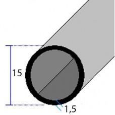 PROFILI  ALLUMINIO TONDI 15x1,5
