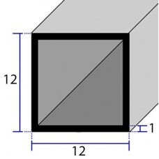 PROFILI  ALLUMINIO QUADRATI 12x1