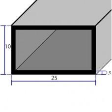 PROFILI  ALLUMINIO RETTANGOLARI 25x10x1,5