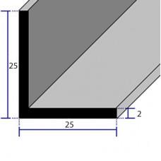 PROFILI  ALLUMINIO ANGOLARI CON LATI UGUALI 25x25x2