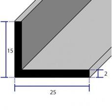 PROFILI  ALLUMINIO ANGOLARI CON LATI DISUGUALI 25x15x2
