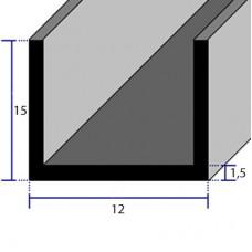 PROFILI  ALLUMINIO A U 12x15x1,5