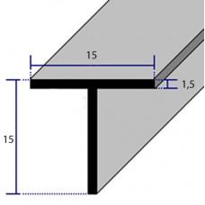 PROFILI  ALLUMINIO A T 15x15x1,5
