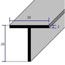 PROFILI  ALLUMINIO A T 20x20x2