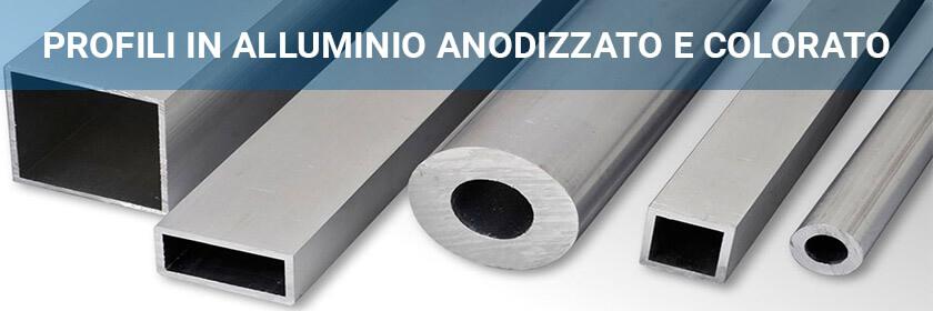Profili in alluminio anodizzato e colorato