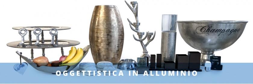 Oggettistica alluminio arredamento
